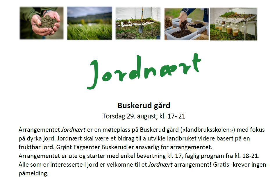 Jordnært seminar på Buskerud gård